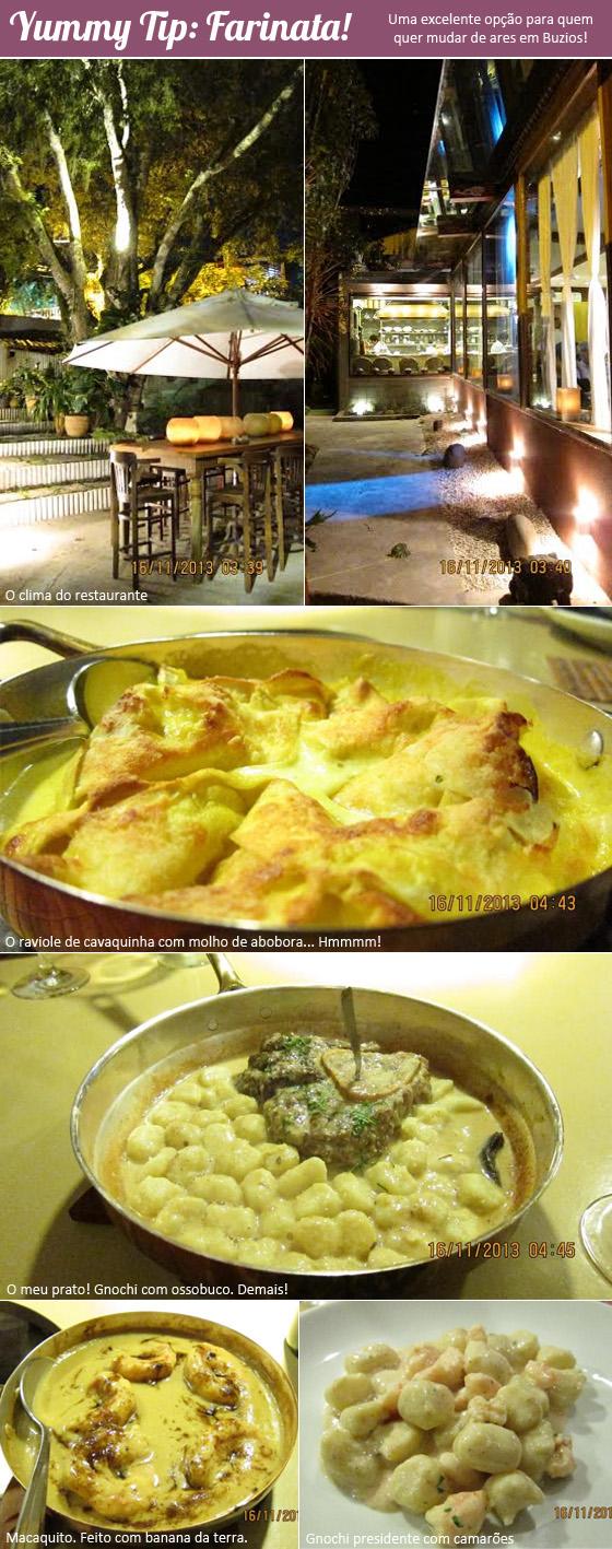 coisas que amamos yummy tip farinata búzios restaurante gastronomia