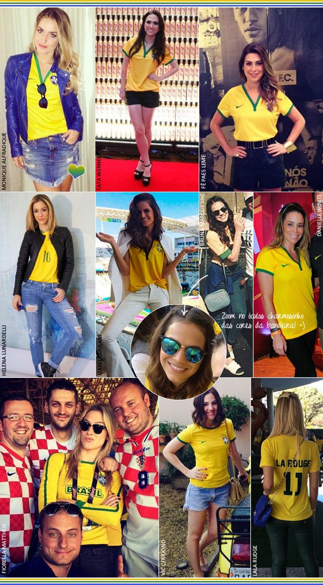coisas que amamos como usar camisa do brasil copa do mundo 2014