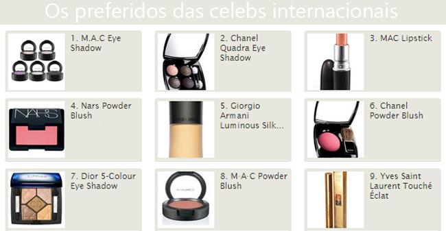 coisas que amamos maquiagem preferida das celebridades internacionais 1