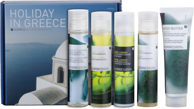 coisas que amamos marcas para ficar ligado nas viagens Korres Grecia