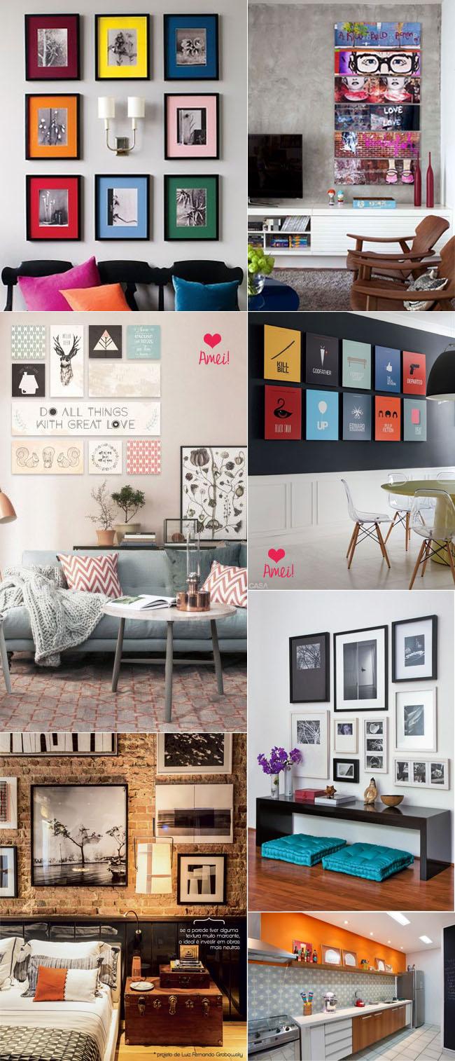 coisas que amamos decorando com quadros 1