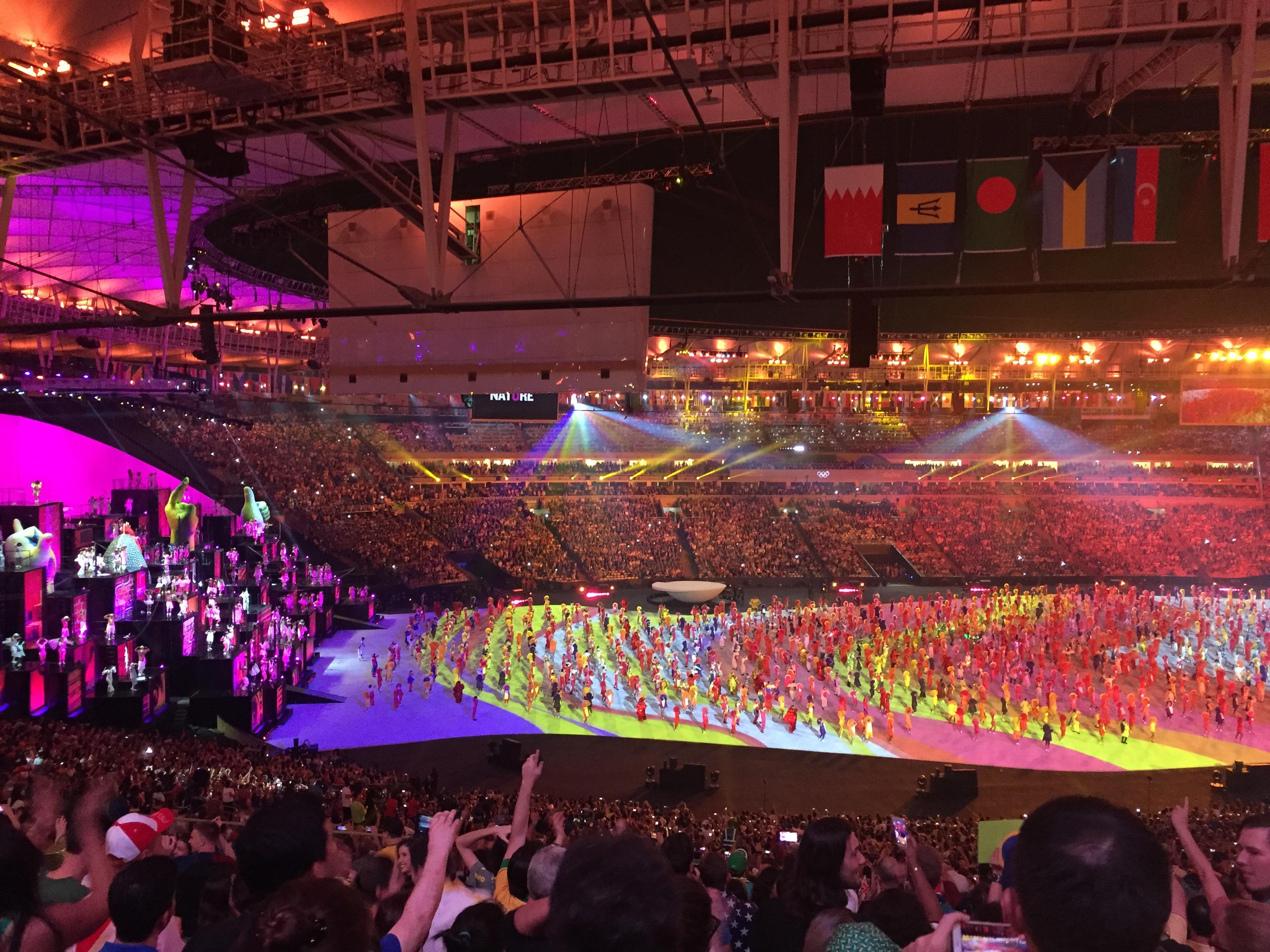 abertura das Olimpíadas Rio 2016