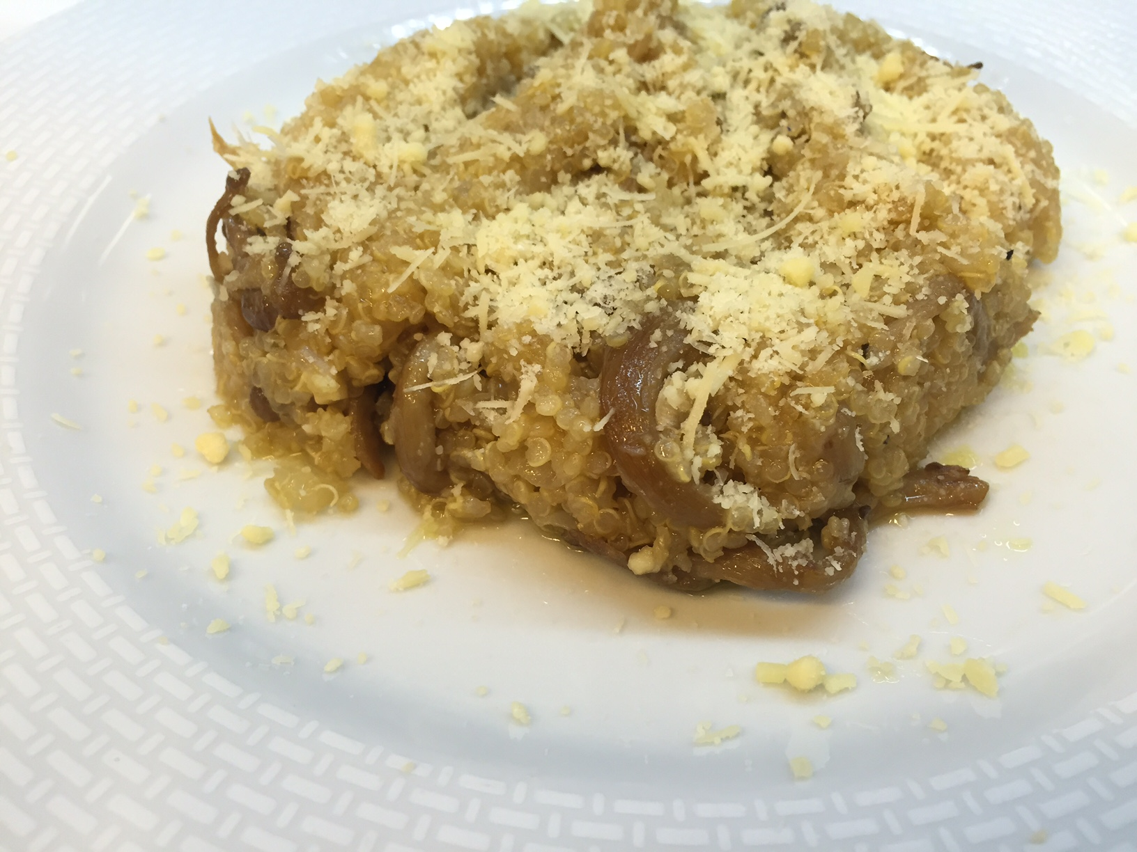Risoto de quinoa com cogumelos
